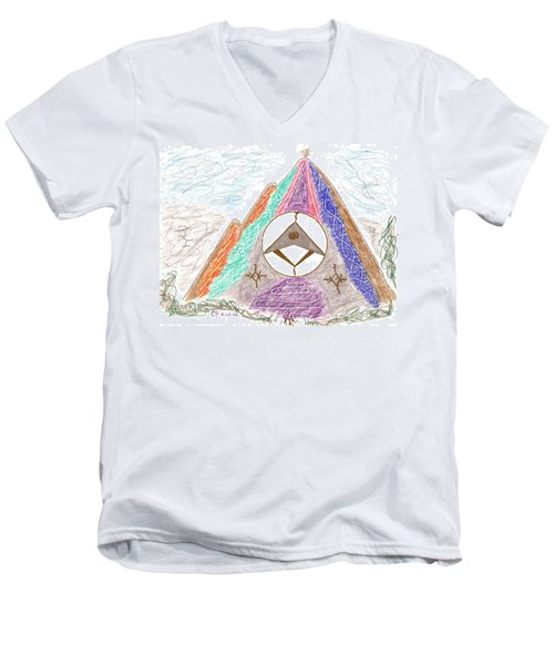 Stargate Men's V-Neck T-Shirt by Mark David Gerson