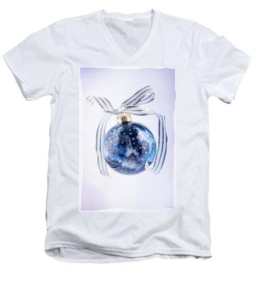 Christmas Ornament With Stars Men's V-Neck T-Shirt by Vizual Studio