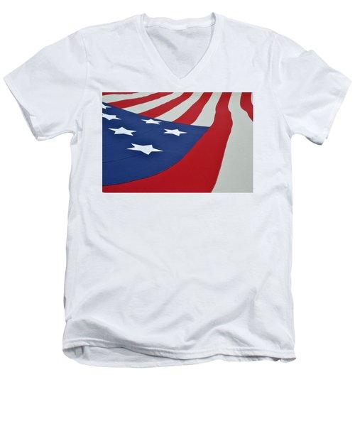 Stars And Stripes Men's V-Neck T-Shirt