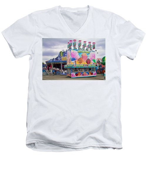 Men's V-Neck T-Shirt featuring the photograph State Fair by Steven Bateson
