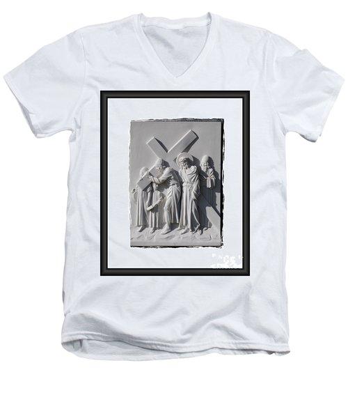 Station V Men's V-Neck T-Shirt