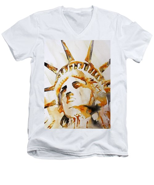 Statue Of Liberty Closeup Men's V-Neck T-Shirt