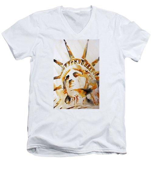 Statue Of Liberty Closeup Men's V-Neck T-Shirt