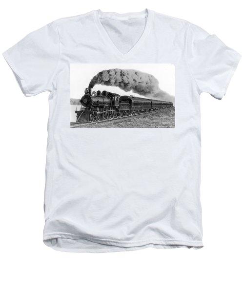 Steam Locomotive No. 999 - C. 1893 Men's V-Neck T-Shirt