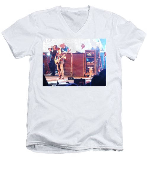 Men's V-Neck T-Shirt featuring the photograph Stephan The Bass Player by Aaron Martens