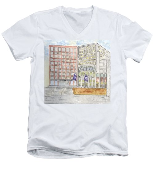 Nyu Stern School Of Business Men's V-Neck T-Shirt