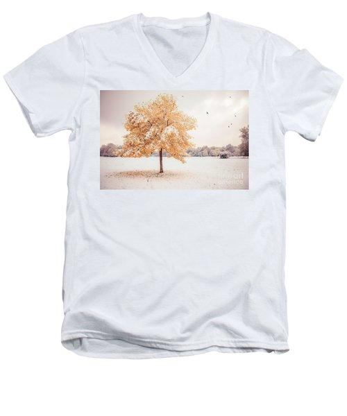 Still Dressed In Fall Men's V-Neck T-Shirt