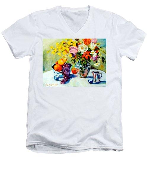 Still Life Creamer Men's V-Neck T-Shirt by Alexandra Maria Ethlyn Cheshire