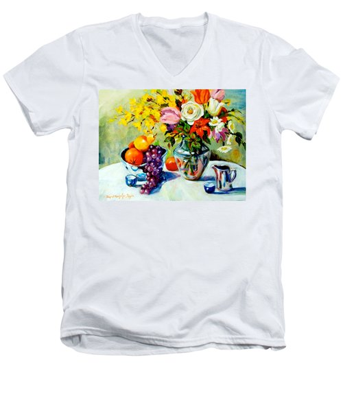 Still Life Creamer Men's V-Neck T-Shirt