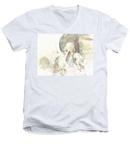 Still Life With Skulls Men's V-Neck T-Shirt