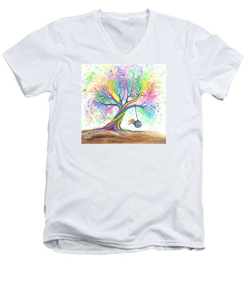 Still More Rainbow Tree Dreams Men's V-Neck T-Shirt