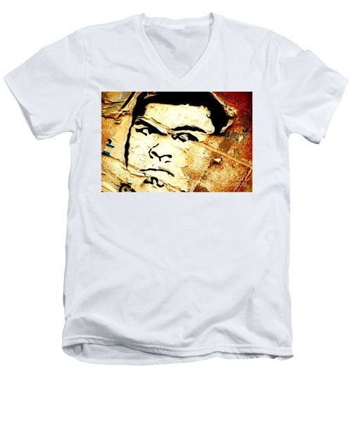 Men's V-Neck T-Shirt featuring the photograph Still Standing  by Christiane Hellner-OBrien