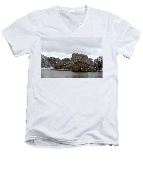 Sylvan Lake In October Men's V-Neck T-Shirt