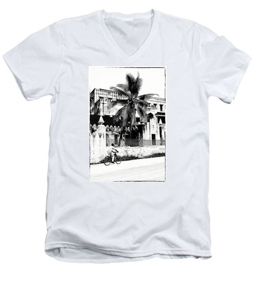 Tanzania Stone Town Unguja Historic Architecture - Africa Snap Shots Photo Art Men's V-Neck T-Shirt by Amyn Nasser