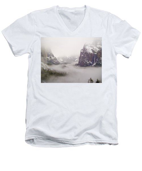 Storm Brewing Men's V-Neck T-Shirt by Bill Gallagher
