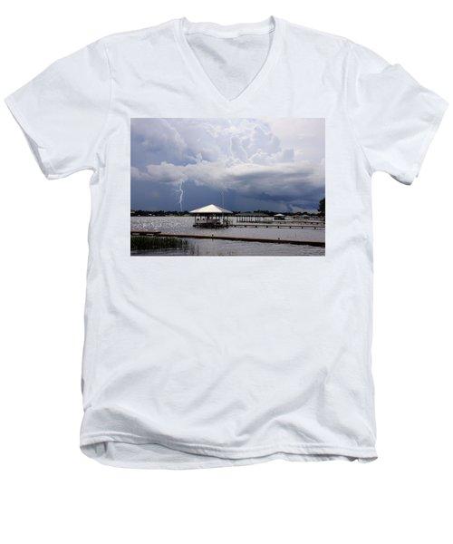 Storm Over Clay Lake Men's V-Neck T-Shirt