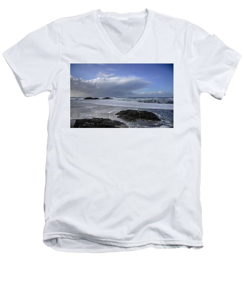 Storm Rolling In Wickaninnish Beach Men's V-Neck T-Shirt by Roxy Hurtubise