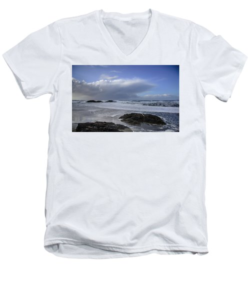 Storm Rolling In Wickaninnish Beach Men's V-Neck T-Shirt