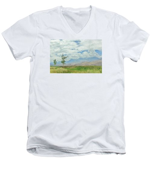 Men's V-Neck T-Shirt featuring the photograph Stormin by Marilyn Diaz