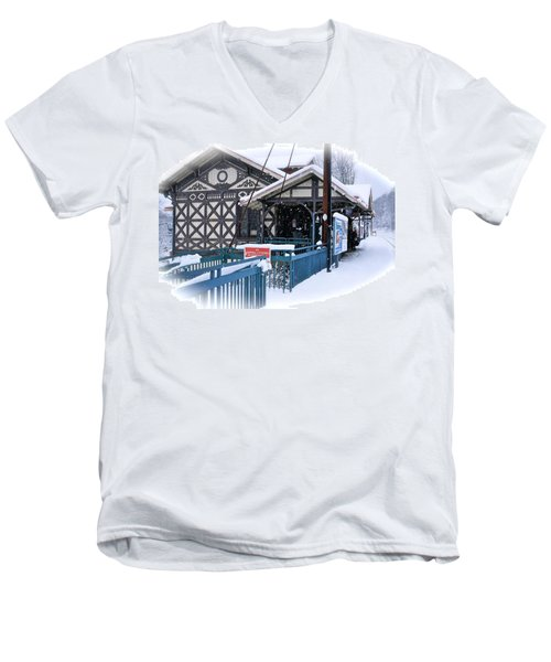 Strafford Station Men's V-Neck T-Shirt by Ira Shander