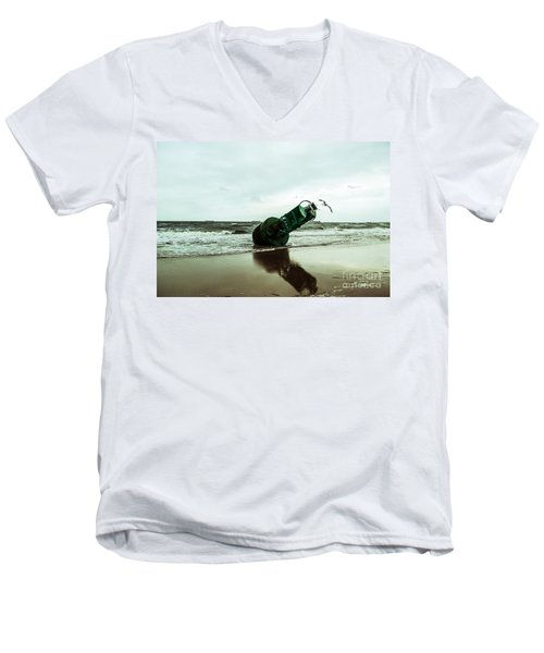 Men's V-Neck T-Shirt featuring the photograph Stranded by Angela DeFrias