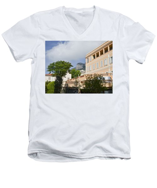 Men's V-Neck T-Shirt featuring the photograph Street Of Monaco by Allen Sheffield