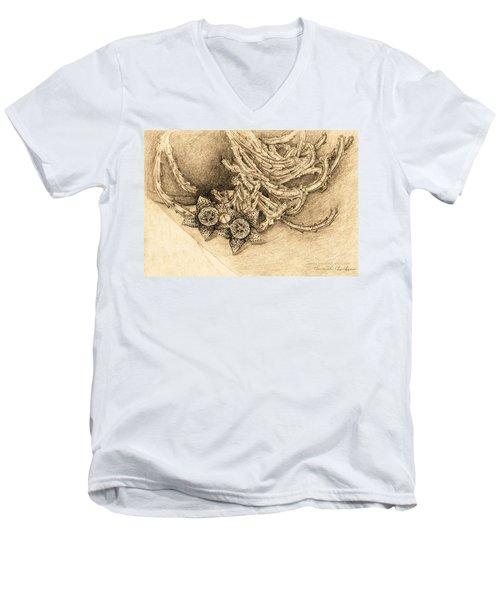 Succulent Flowers Men's V-Neck T-Shirt