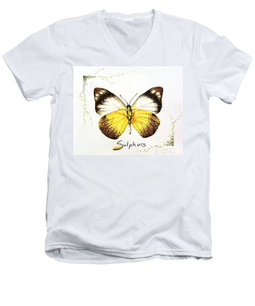 Sulphurs - Butterfly Men's V-Neck T-Shirt
