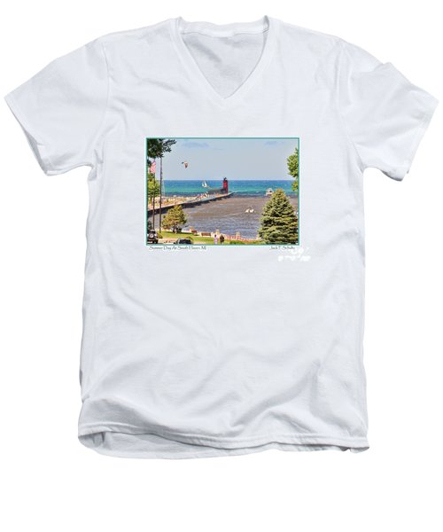 Summer Day At South Haven Mi Men's V-Neck T-Shirt