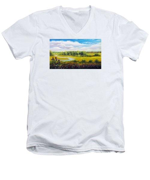 Summer Day Men's V-Neck T-Shirt by Vesna Martinjak