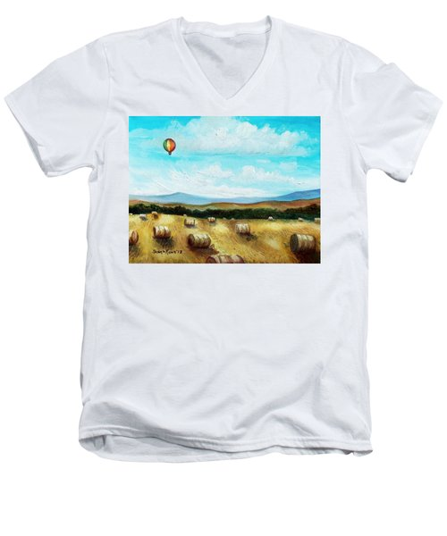 Summer Flight 3 Men's V-Neck T-Shirt by Shana Rowe Jackson