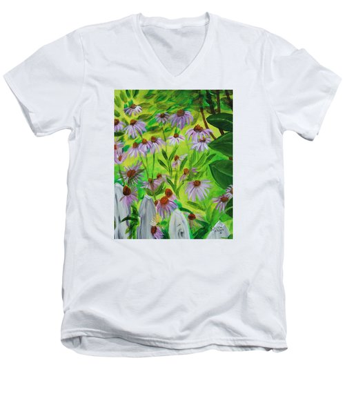 Summer Flowers In Peculiar Mo. Men's V-Neck T-Shirt by Patricia Olson