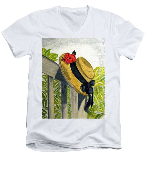 Summer Hat Men's V-Neck T-Shirt