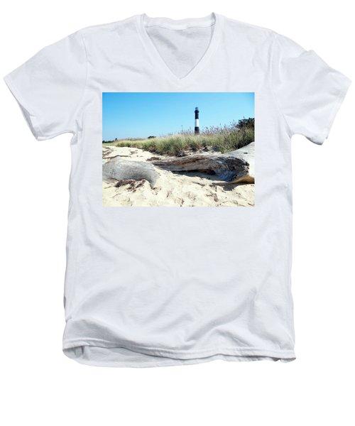 Men's V-Neck T-Shirt featuring the photograph Summer Scene by Ed Weidman