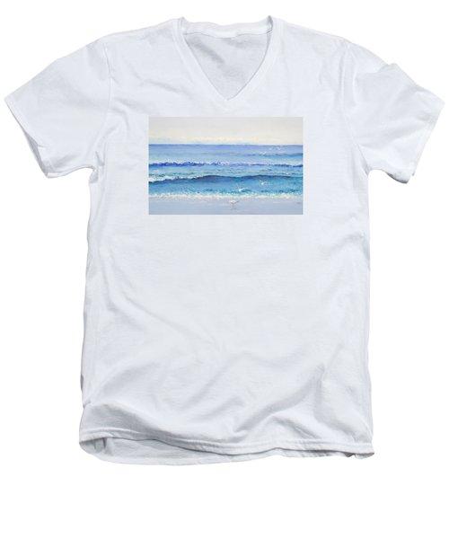 Summer Seascape Men's V-Neck T-Shirt by Jan Matson