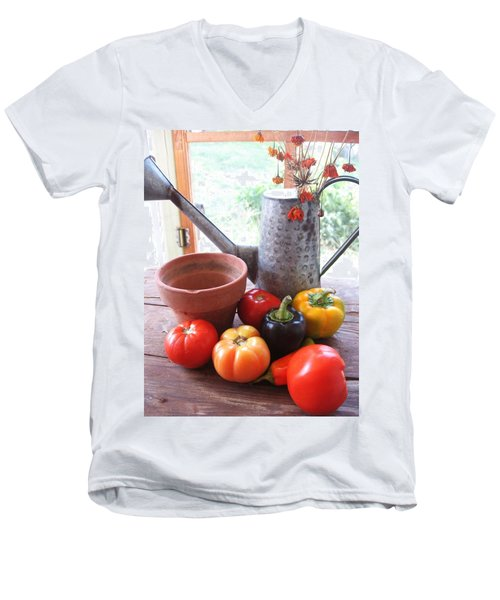 Summer's Bounty   Men's V-Neck T-Shirt
