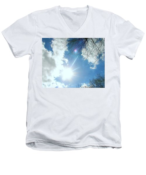 Men's V-Neck T-Shirt featuring the photograph Sun Burst by Pamela Hyde Wilson
