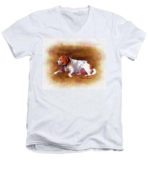 Sunbathing Men's V-Neck T-Shirt