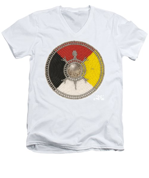 Sundance Indian Men's V-Neck T-Shirt