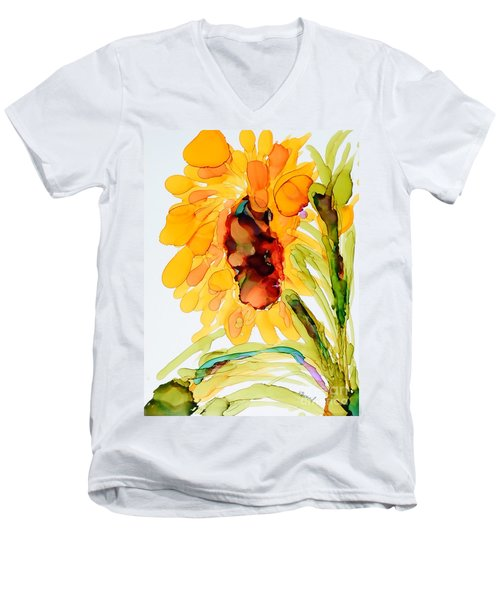 Sunflower Left Face Men's V-Neck T-Shirt
