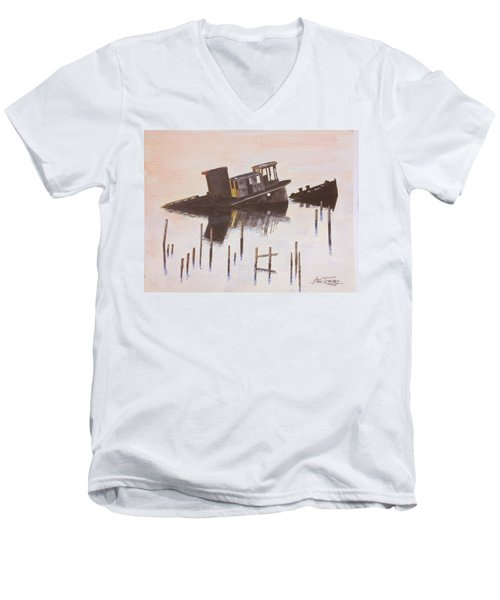 Sunken Boat Men's V-Neck T-Shirt