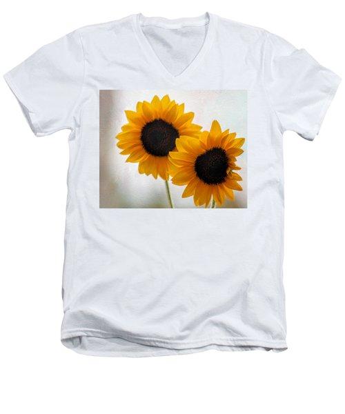 Sunny Flower On A Rainy Day Men's V-Neck T-Shirt