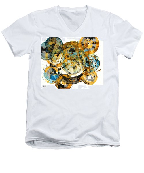 Men's V-Neck T-Shirt featuring the painting Sunrise - 991.042212 by Kris Haas