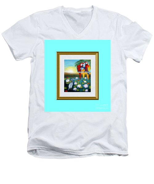 Sunrise In Paradise. Inspiration Collection Men's V-Neck T-Shirt