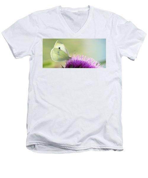 Sunrise In The Thistle Fields Men's V-Neck T-Shirt