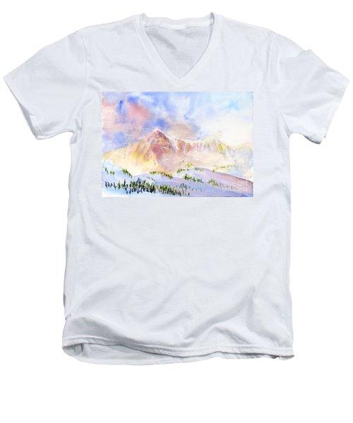 Sunrise On Mount Ogden Men's V-Neck T-Shirt