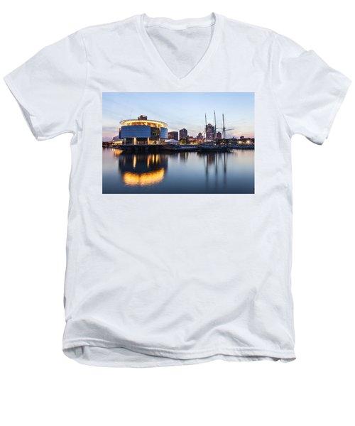 Sunset At The Dock Men's V-Neck T-Shirt