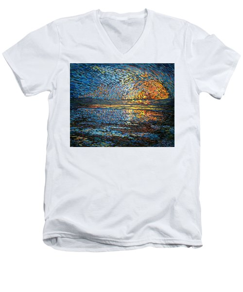 Sunset Before The Storm Men's V-Neck T-Shirt
