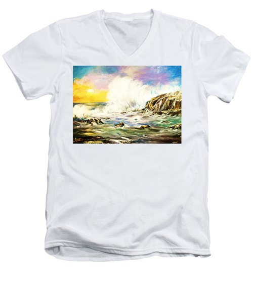Sunset Breakers Men's V-Neck T-Shirt