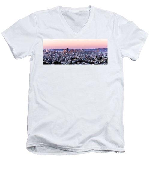 Sunset Cityscape Men's V-Neck T-Shirt
